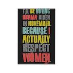 Respect Women Rectangle Magnet (100 pack)