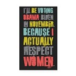 Respect Women Rectangle Car Magnet