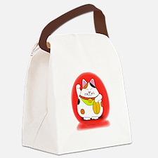 Good Luck Maneki Neko Canvas Lunch Bag
