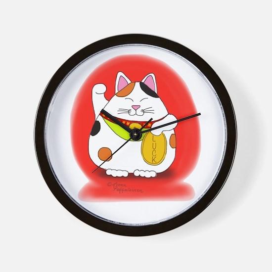 Good Luck Maneki Neko Wall Clock