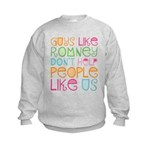 Guys Like Romney Kids Sweatshirt