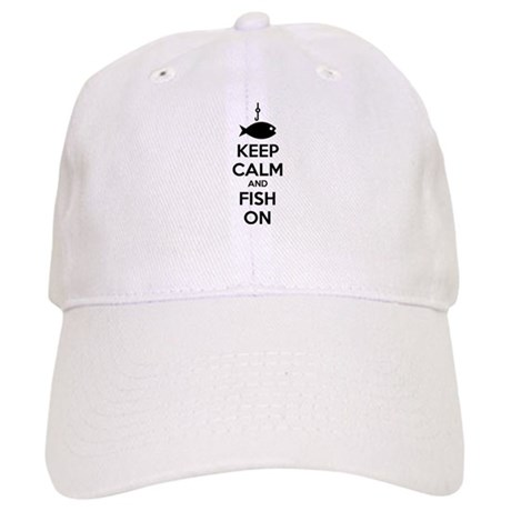 Keep calm and fish on Cap