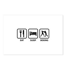 Eat Sleep Boxing Postcards (Package of 8)