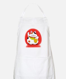 Good Luck Maneki Neko Apron