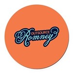 Outsource Romney Round Car Magnet
