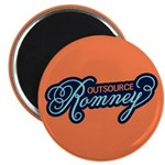"""Outsource Romney 2.25"""" Magnet (100 pack)"""