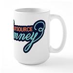 Outsource Romney Large Mug