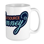Outsource Romney Large Mug