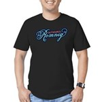 Outsource Romney Men's Fitted T-Shirt (dark)