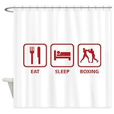Eat Sleep Boxing Shower Curtain