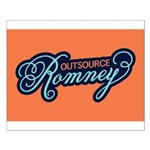 Outsource Romney Small Poster