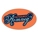 Outsource Romney Sticker (Oval 10 pk)