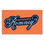 Outsource Romney Sticker (Rectangle)