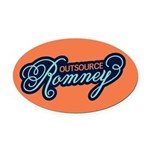 Outsource Romney Oval Car Magnet