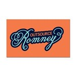 Outsource Romney Rectangle Car Magnet