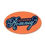 Outsource Romney 20x12 Oval Wall Decal