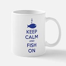 Keep calm and fish on Mug