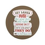 """Ladies Vote 3.5"""" Button (100 pack)"""