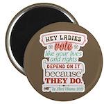 """Ladies Vote 2.25"""" Magnet (100 pack)"""