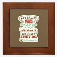 Ladies Vote Framed Tile