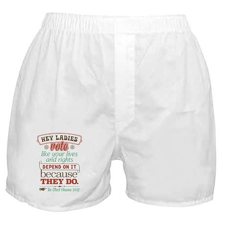 Ladies Vote Boxer Shorts