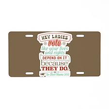 Ladies Vote Aluminum License Plate