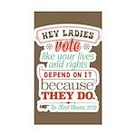 Ladies Vote Sticker (Rectangle 50 pk)