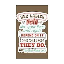 Ladies Vote Decal