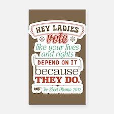 Ladies Vote Rectangle Car Magnet