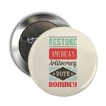 "Romney Aristocracy 2.25"" Button (100 pack)"