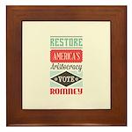 Romney Aristocracy Framed Tile