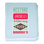 Romney Aristocracy baby blanket