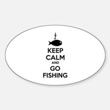 Keep calm and go fishing Decal