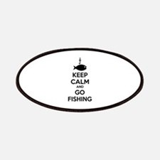 Keep calm and go fishing Patches