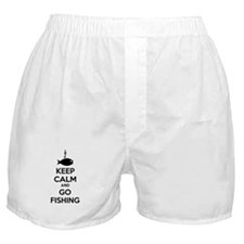 Keep calm and go fishing Boxer Shorts