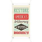 Romney Aristocracy Banner