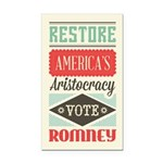 Romney Aristocracy Rectangle Car Magnet