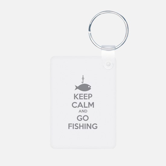 Keep calm and go fishing Keychains