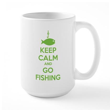 Keep calm and go fishing Large Mug