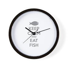 Keep calm and eat Wall Clock