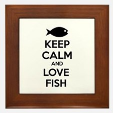 Keep calm and love fish Framed Tile