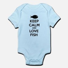 Keep calm and love fish Infant Bodysuit