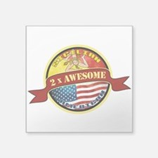 Sicilian American 2 x Awesome Square Sticker 3&quo