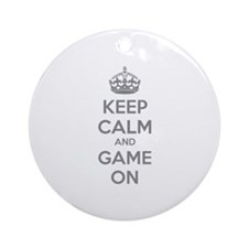 Keep calm and game on Ornament (Round)