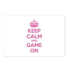 Keep calm and game on Postcards (Package of 8)
