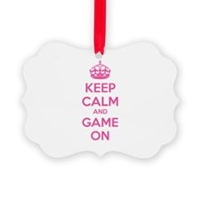 Keep calm and game on Ornament