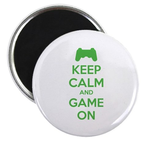 """Keep calm and game on 2.25"""" Magnet (100 pack)"""