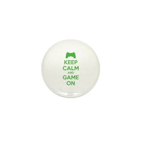 Keep calm and game on Mini Button (10 pack)