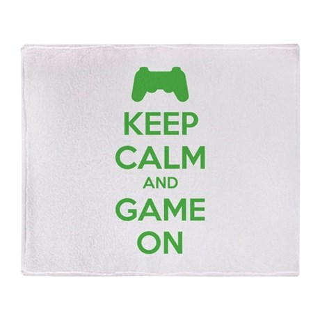 Keep calm and game on Throw Blanket