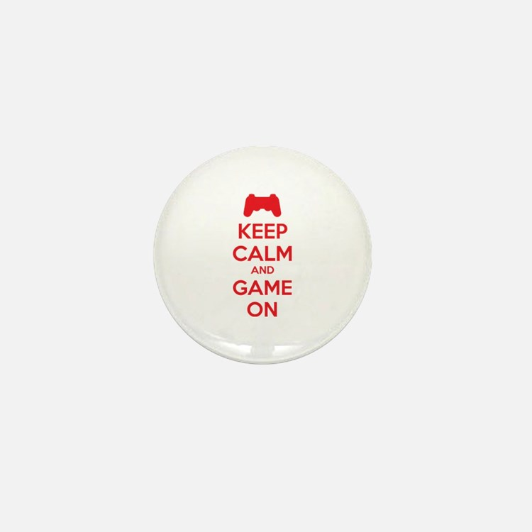 Keep calm and game on Mini Button